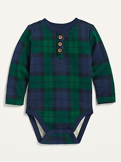 Oldnavy Unisex Henley Thermal Bodysuit for Baby