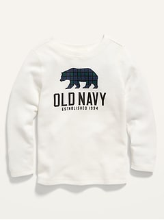 Oldnavy Logo-Graphic Long-Sleeve Thermal Tee for Toddler Boys