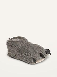 Oldnavy Gender-Neutral Faux-Fur Critter Slippers for Kids