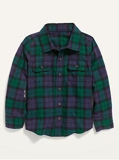 siliteelon Toddler Baby Boys Plaid Flannel Shirt Long Sleeve Button Down Shirts
