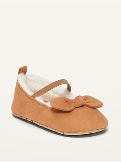 Oldnavy Unisex Sherpa-Lined Bow-Tie Ballet Flats for Baby