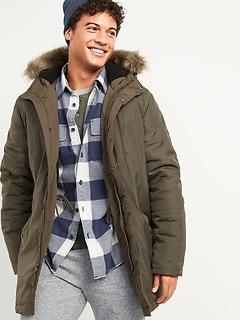 Oldnavy Hooded Faux-Fur Trim Parka Coat for Men