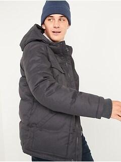 Oldnavy Textured Hooded Utility Puffer Jacket for Men