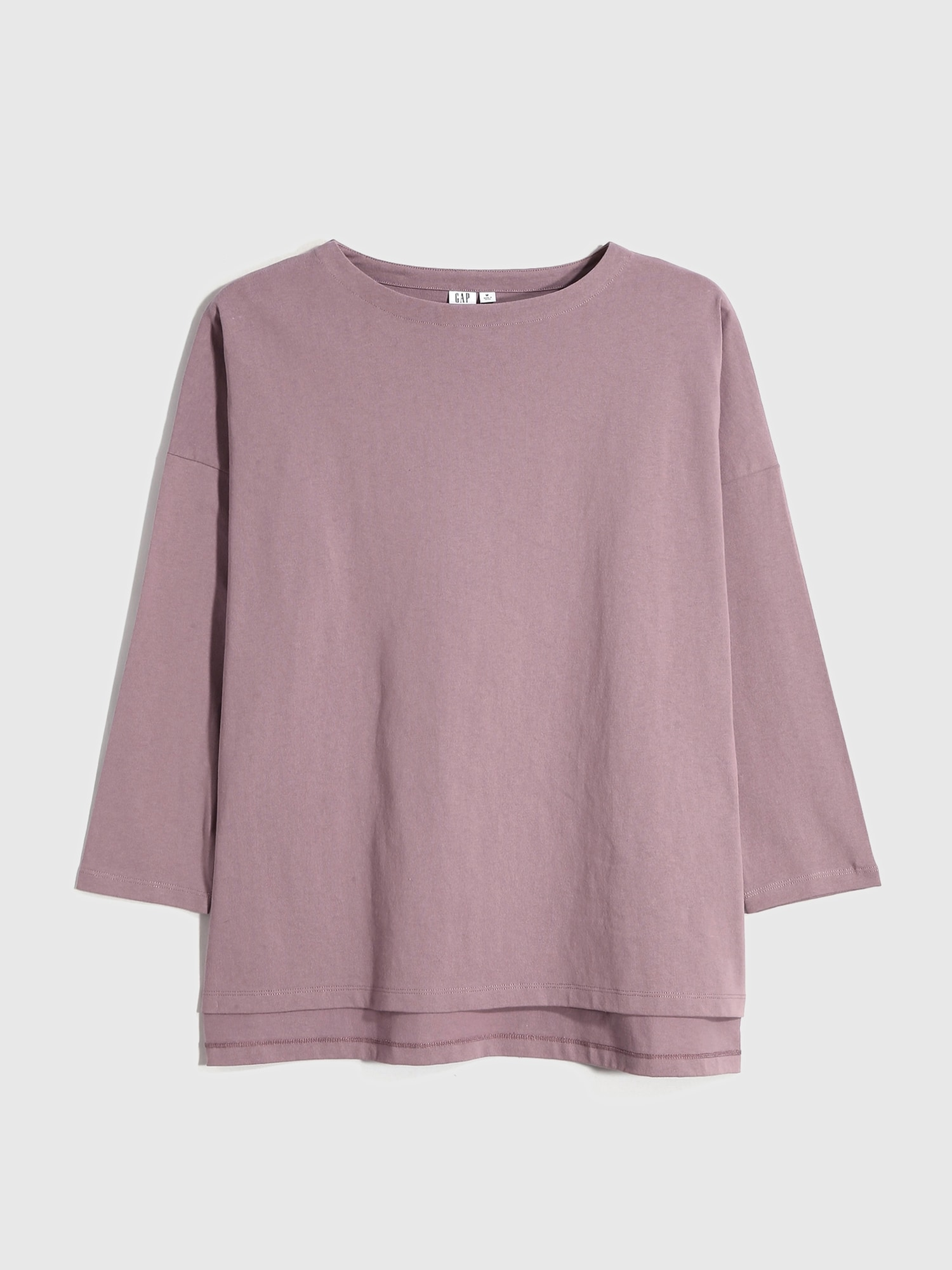 ヘビーウェイト ボートネック チュニックtシャツ