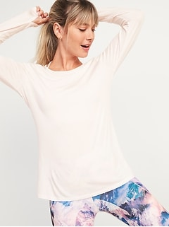 Oldnavy Go-Warm Jersey Long-Sleeve Top for Women
