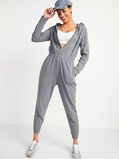 Oldnavy Cozy Zip-Front Hoodie Jumpsuit for Women