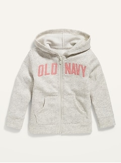 Oldnavy Unisex Logo-Graphic Zip Hoodie for Toddler