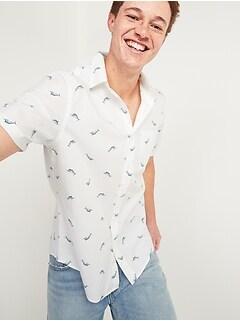 Oldnavy Everyday Short-Sleeve Shirt for Men