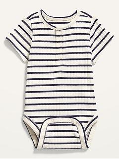 Oldnavy Unisex Rib-Knit Henley Bodysuit for Baby Hot Deal