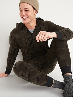 Oldnavy Patterned Micro Performance Fleece One-Piece Pajamas for Men