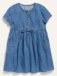 Oldnavy Fit & Flare Chambray Dress for Toddler Girls