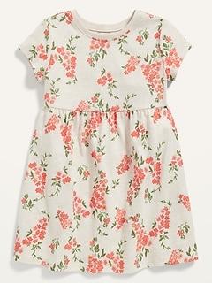 Oldnavy Fit & Flare Short-Sleeve Jersey Dress for Toddler Girls