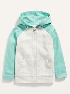 Oldnavy Unisex Color-Blocked Raglan Zip Hoodie for Toddler