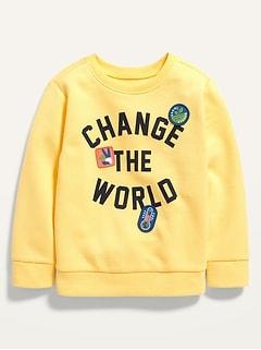 Oldnavy Unisex Vintage Graphic Crew-Neck Sweatshirt for Toddler