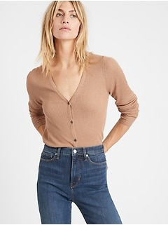 Bananarepublic Silk-LENZING ECOVERO Cardigan Sweater