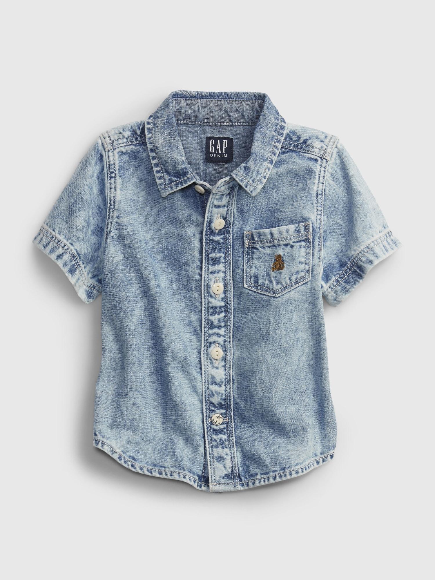 Baby デニム タンブルシャツ (ベビー)