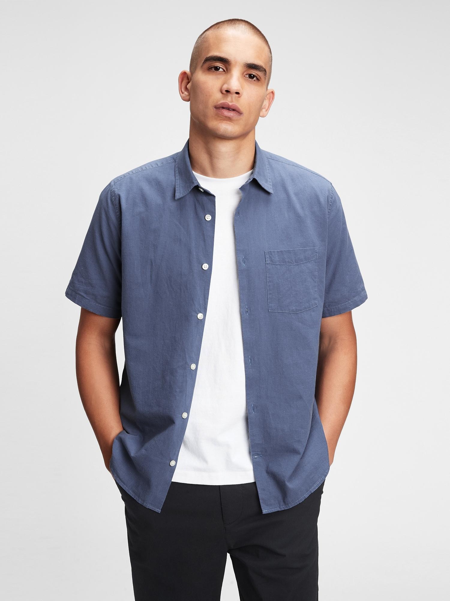 リネンコットン シャツ