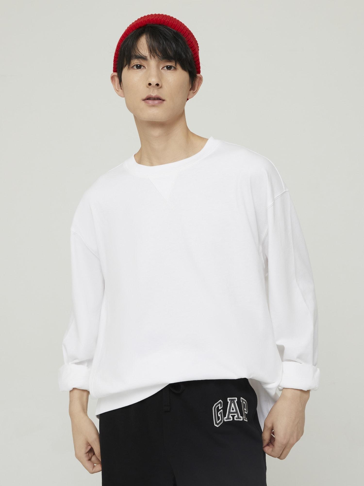 オーバーサイズ クルーネックtシャツ