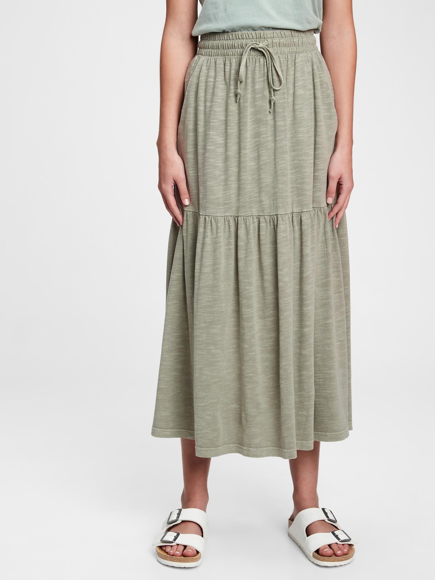 ティアード ミディスカート