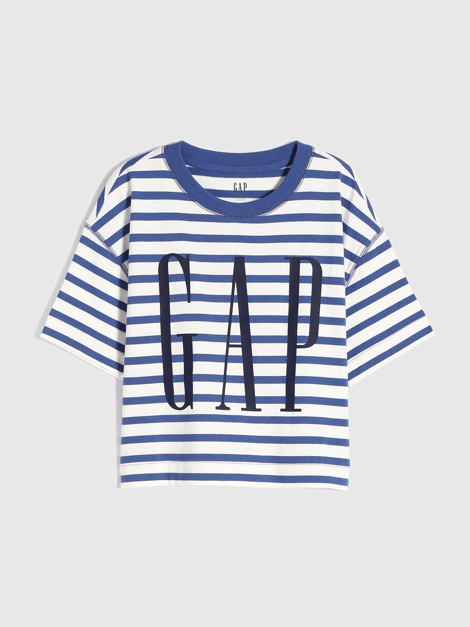 Gapロゴ ストライプtシャツ