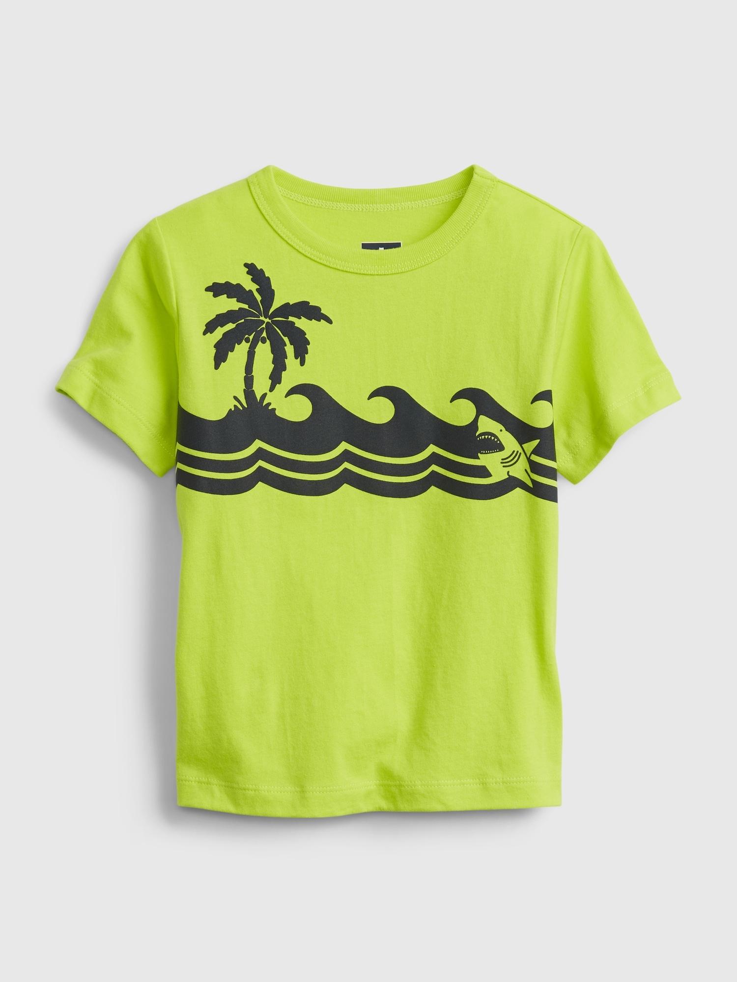 オーガニックコットン ミックスマッチ グラフィックtシャツ (幼児)