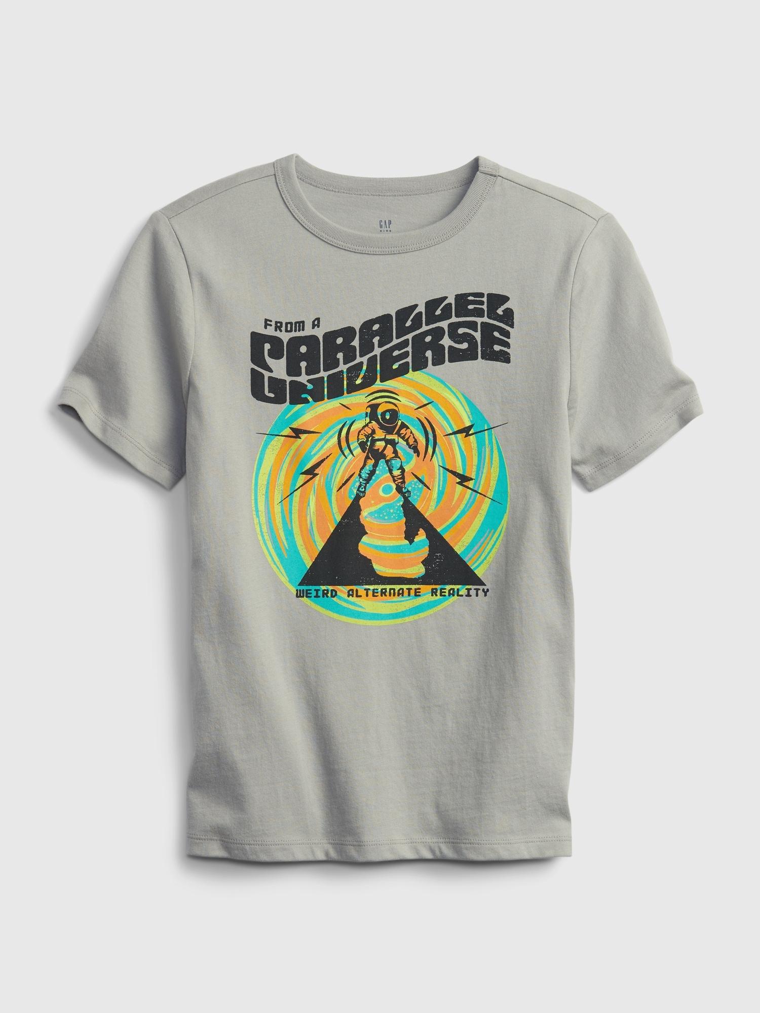 オーガニックコットン100% グラフィック Tシャツ (キッズ)