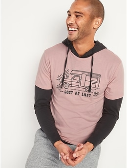 Graphic Soft-Washed Crew-Neck T-Shirt for Men