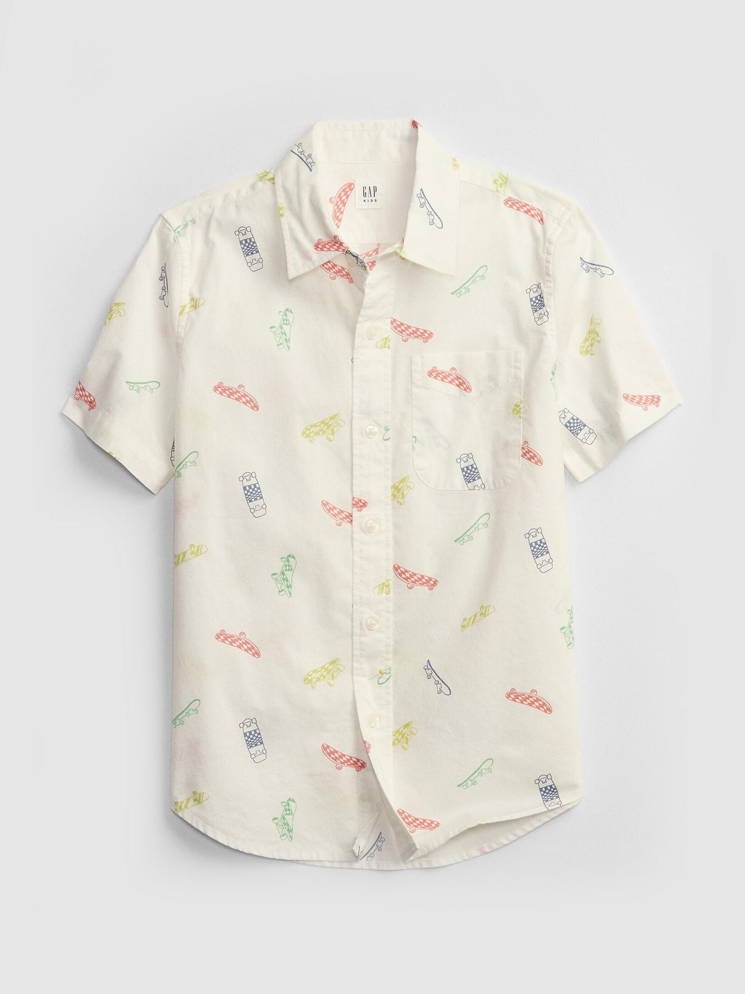 ポプリン プリントシャツ (キッズ)