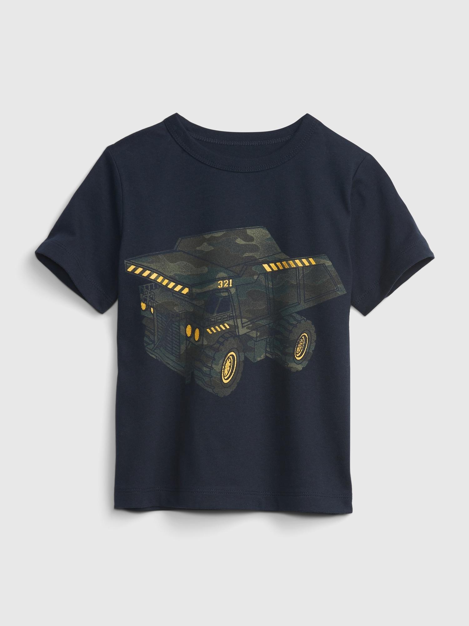 オーガニック ミックスマッチ グラフィックtシャツ (幼児)