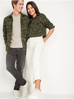 Oldnavy Gender-Neutral Cotton Twill Utility Shirt for Adults