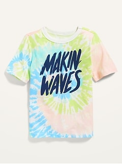 Oldnavy Tie-Dye Makin Waves Graphic Tee for Toddler