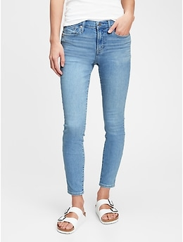 Gap Women's Mid Rise True Skinny Jeans with Washwell