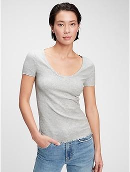 Deals on Gap Ribbed T-Shirt