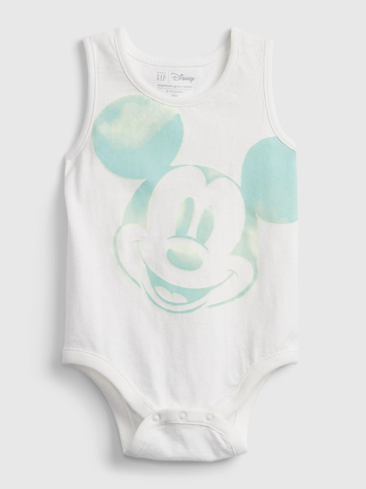 Babygap ディズニー ミッキーマウス オーガニックコットン100% ミックス&マッチ ボディシャツ