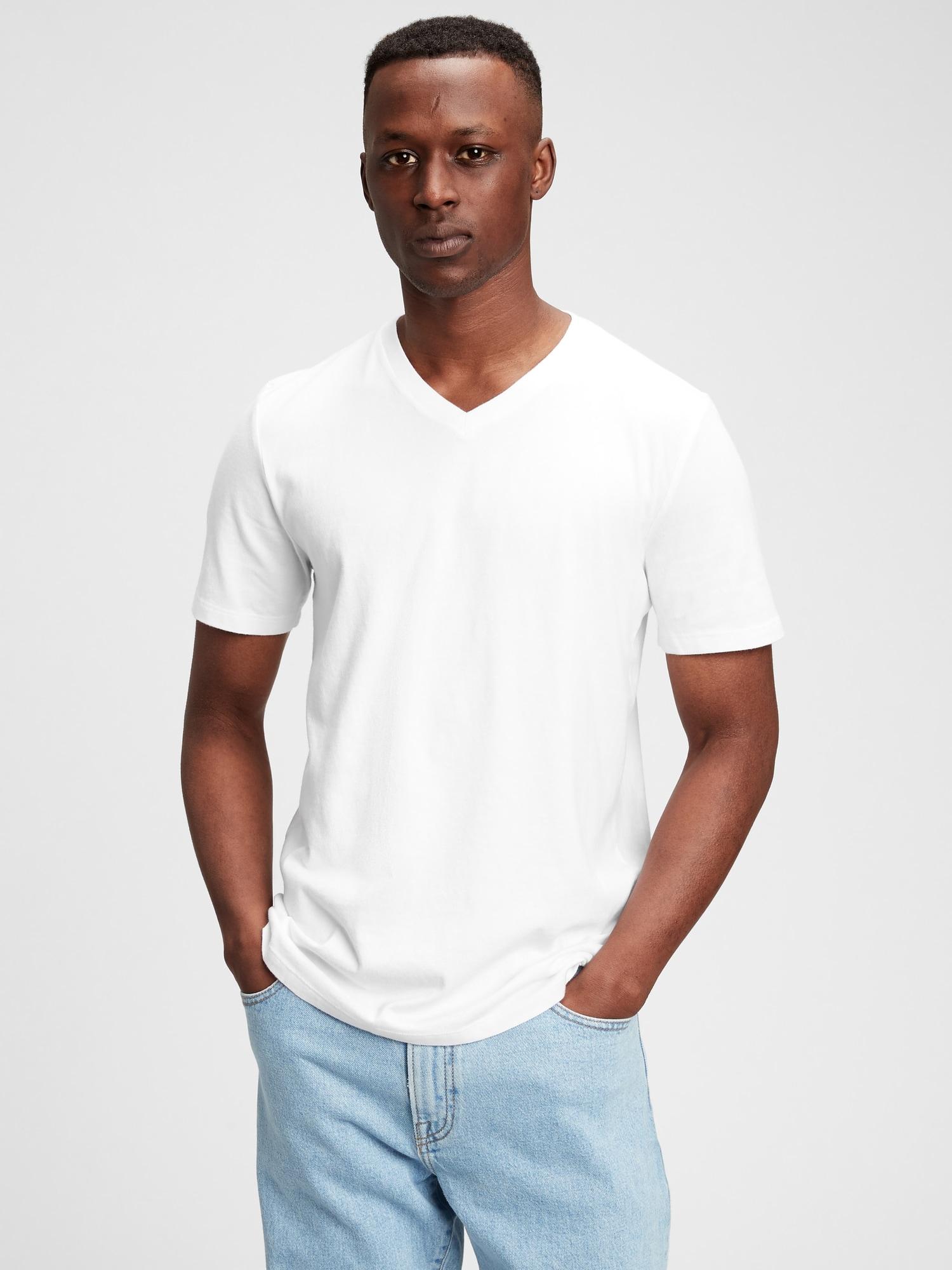 クラシックvネックtシャツ