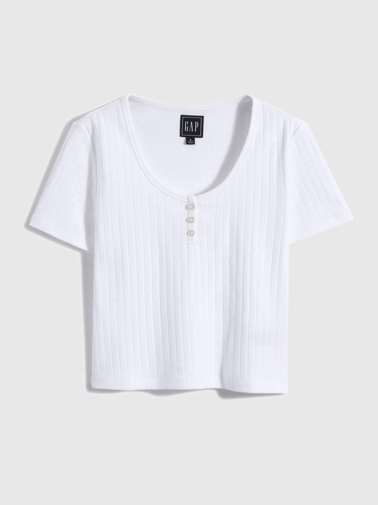 シック コットン スクープネックtシャツ
