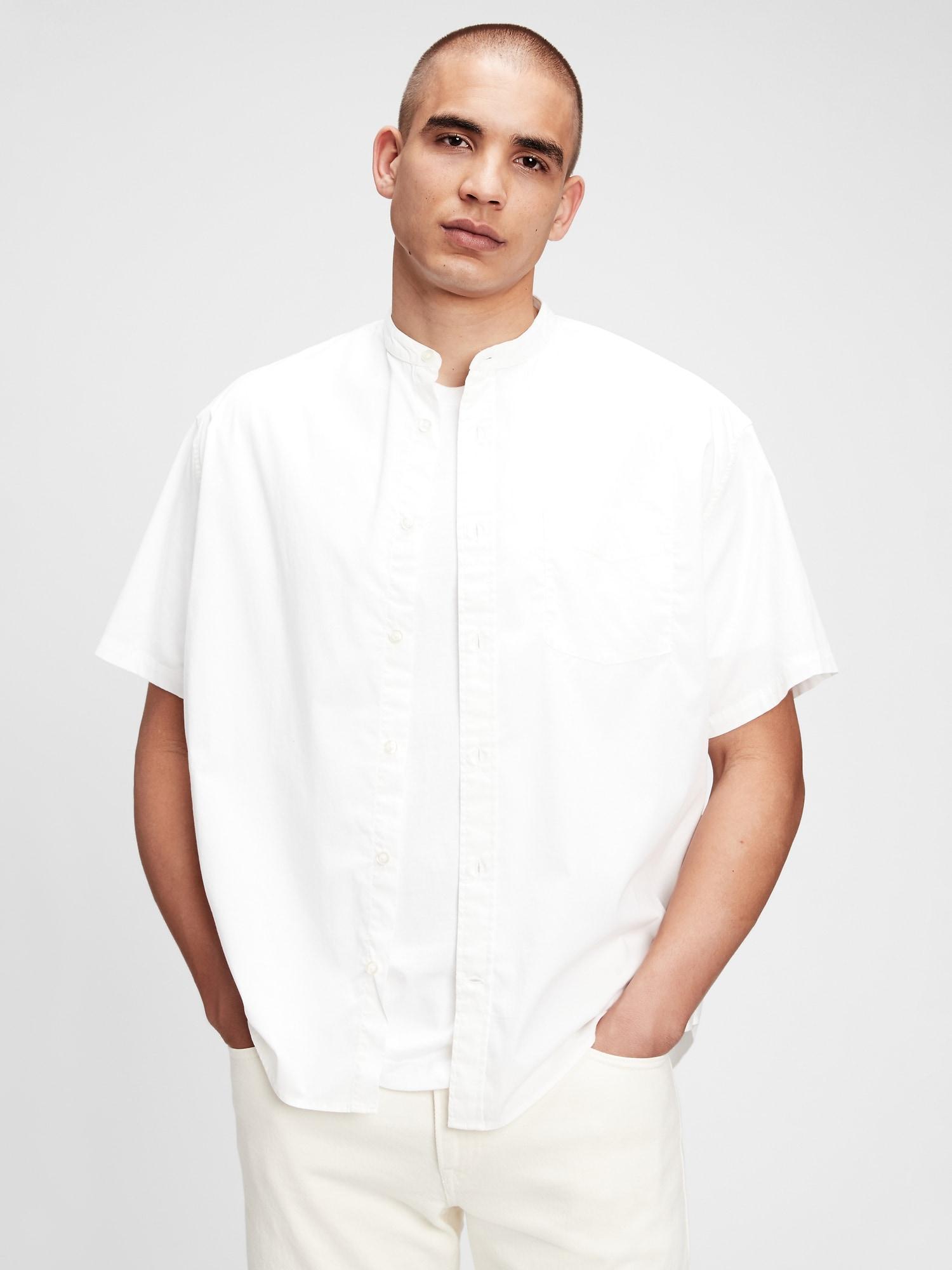 オーバーサイズフロントボタンシャツ