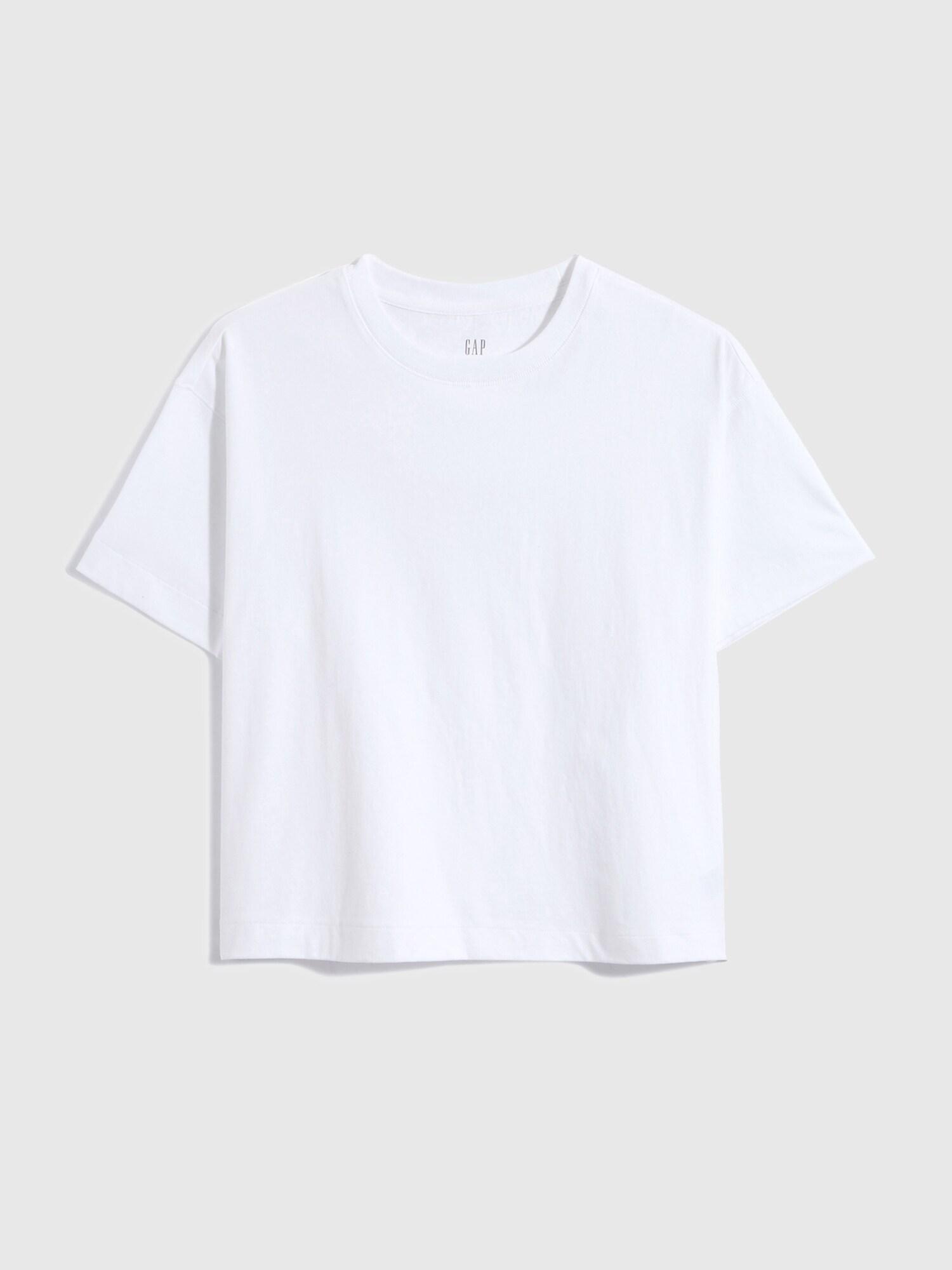 ボクシー クロップドtシャツ