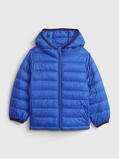 갭 여아용 푸퍼 자켓 GAP Toddler 100% Recycled Nylon ColdControl Puffer Jacket,admiral blue