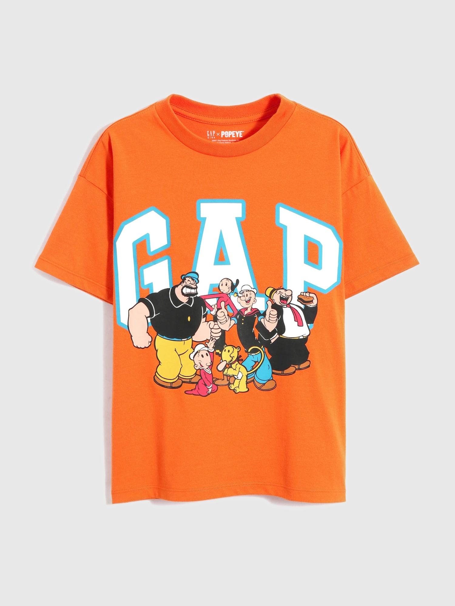 ポパイ™ グラフィックtシャツ (キッズ・ユニセックス)