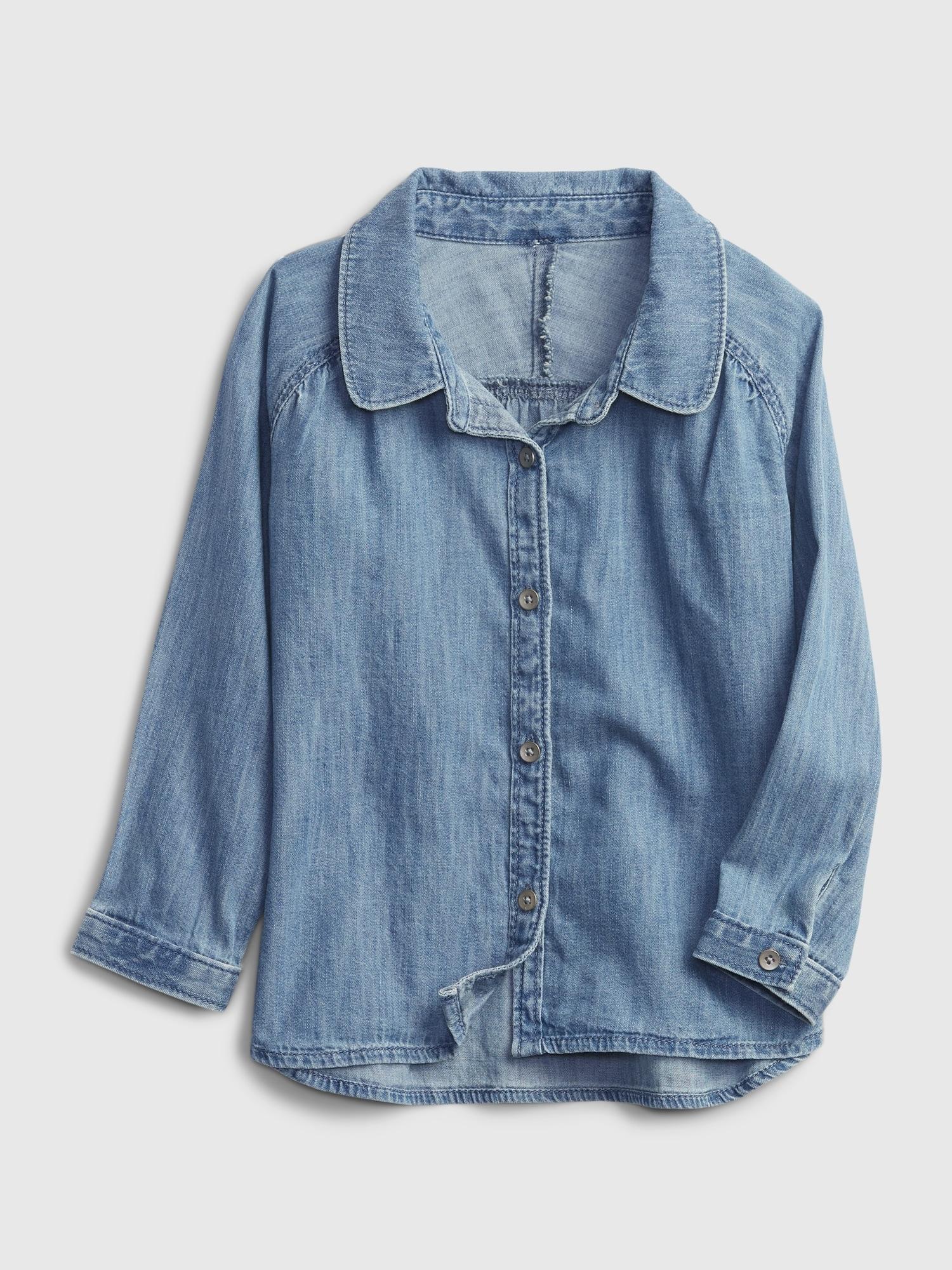 オーガニックコットン100% デニムシャツ (幼児)