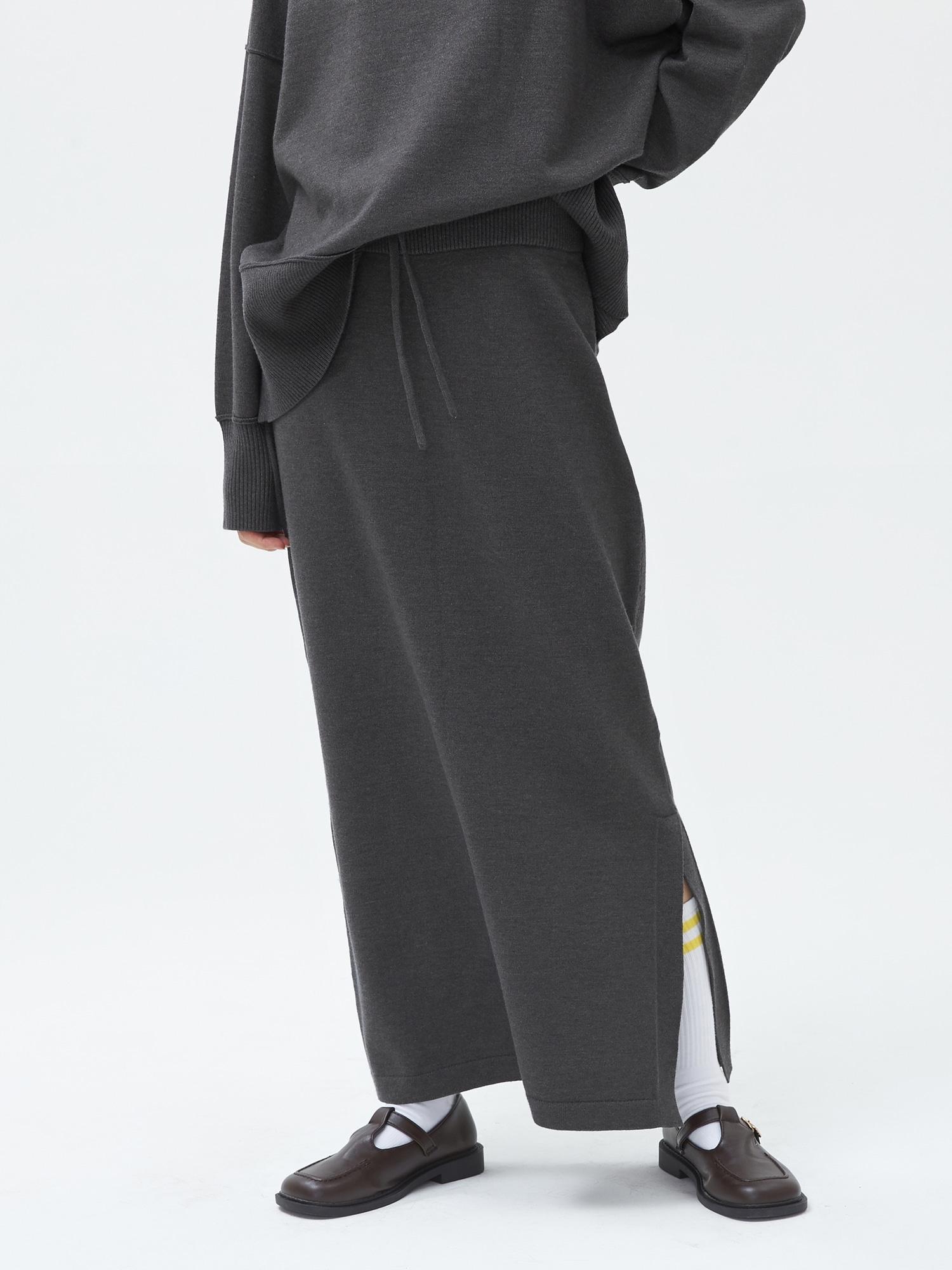 マキシ ニットスカート