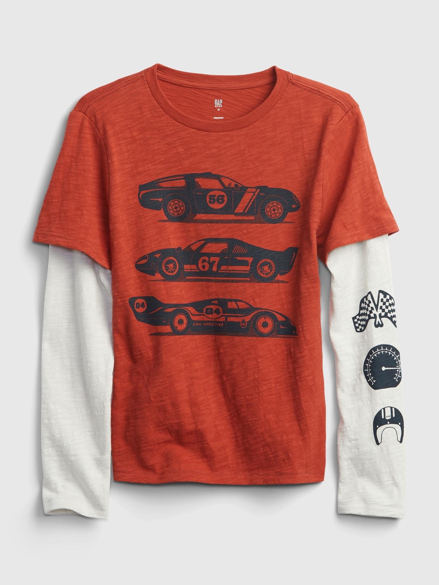 2-In-1 グラフィックtシャツ (キッズ)