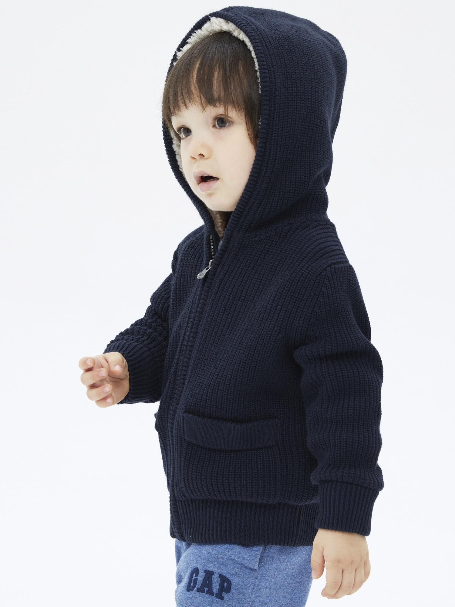 コージー ボア フルジップセーター (幼児)