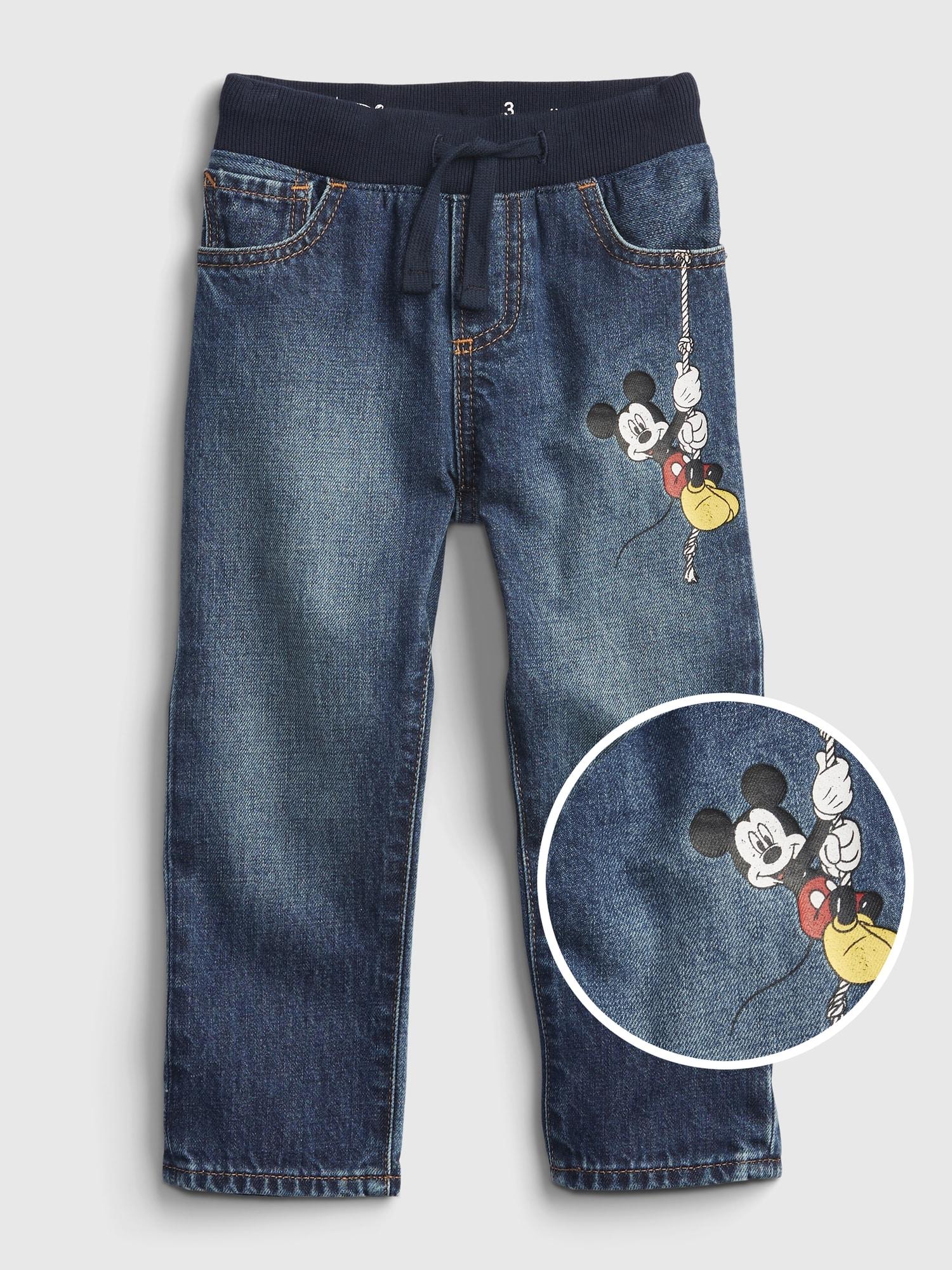 Babygap ディズニー ミッキーマウス スリムデニム