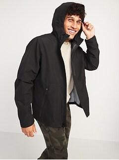 Oldnavy Go-H20 Water-Resistant Hooded Rain Jacket for Men