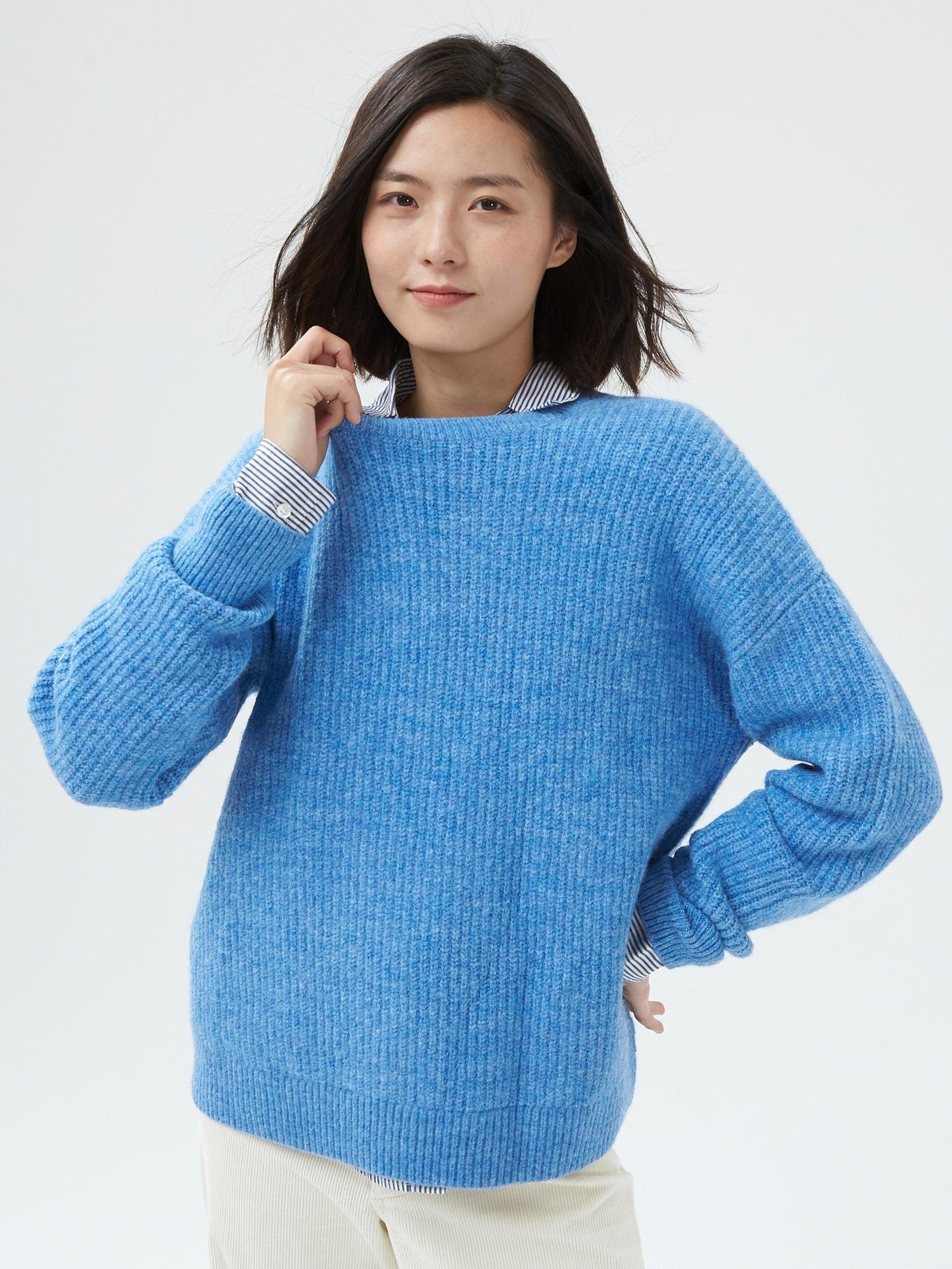 オーバーサイズ クルーネック セーター