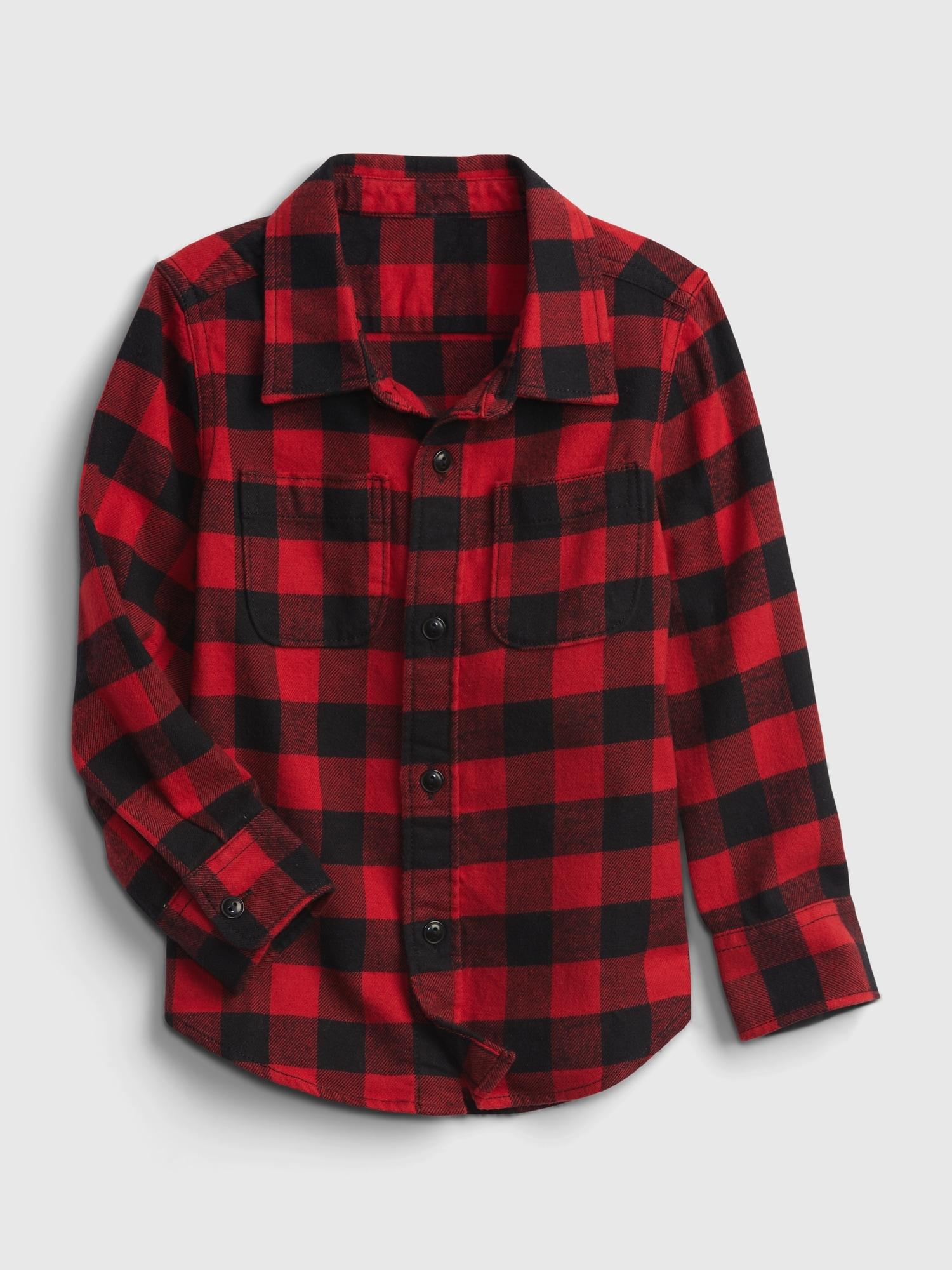 オーガニックコットン100% フランネルシャツ (幼児)