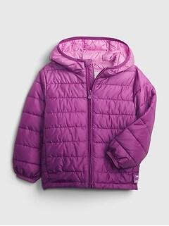 갭 여아용 푸퍼 자켓 GAP Toddler Dip-Dye ColdControl Recycled Puffer Jacket,orchid haze purple