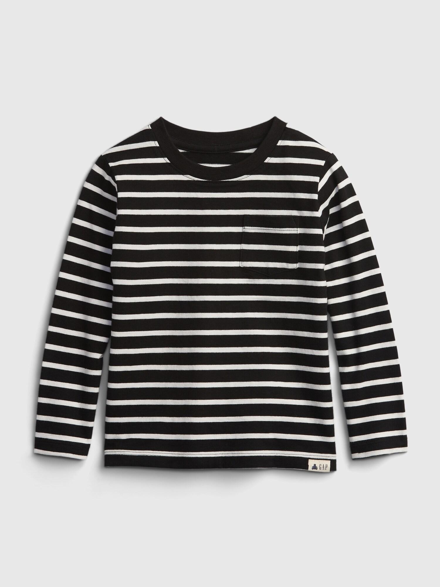 オーガニックコットン100% ブラナン プレイタイムフェイバリット ストライプ Tシャツ (幼児)